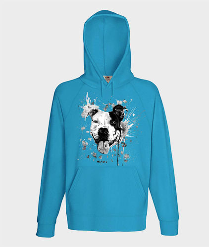 Hoodie - Black&White - turquoise